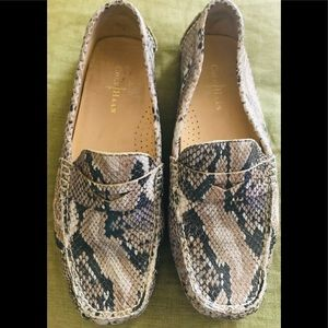Cole Haan Snake Embossed Leather Loafers